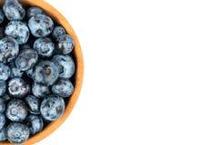 在碗的蓝莓 免版税库存照片