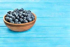 在碗的蓝莓 图库摄影