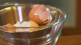 在碗的蛋壳 影视素材