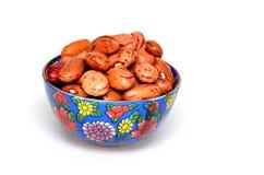 在碗的豆 免版税图库摄影