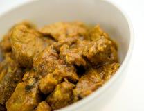 在碗的辣印地安山羊羊羔咖喱 免版税图库摄影