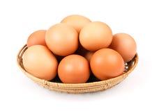 在碗的鸡蛋 免版税库存图片