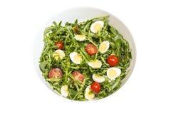 在碗的鹌鹑蛋沙拉 免版税库存图片