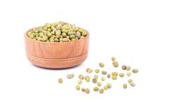 在碗的绿色扁豆 库存图片