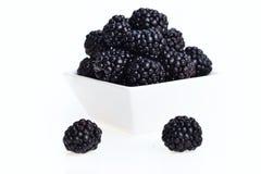 在碗的黑莓 免版税图库摄影