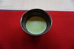 在碗,京都,日本的茶 图库摄影