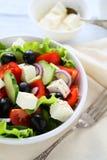 在碗,食物的新鲜的沙拉 免版税库存照片