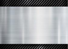 在碳凯夫拉尔纹理样式技术体育创新概念背景的抽象金属框架 库存例证