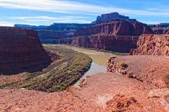 在碳酸钾路ut犹他之外的canyonlands np 免版税库存图片