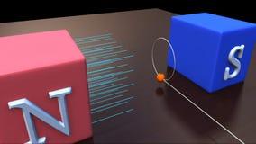在磁场的圆周运动 皇族释放例证