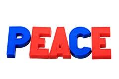 在磁铁和平上写字 免版税库存图片