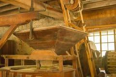 在磨房里面在Springmill国家公园在印第安纳 免版税库存图片