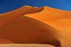 在磨擦Al Khali的大沙丘 库存图片