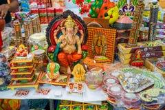 在礼品店的纪念品在一点印度,新加坡 图库摄影