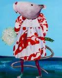 在礼服的逗人喜爱的鼠 免版税库存照片
