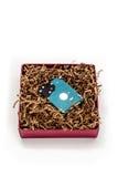 在礼物盒的硬盘 免版税库存照片
