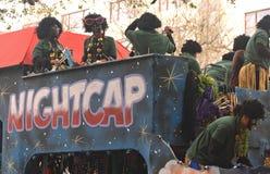 在祖鲁族人游行的睡帽浮游物 免版税库存照片