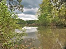 在神仙的石湖的暴风云在弗吉尼亚 免版税图库摄影