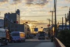 在神奈川肯附近的美好的都市风景 免版税库存图片