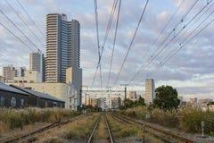 在神奈川肯附近的美好的都市风景 免版税图库摄影