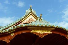 在神田区,东京,日本祀奉神田Myojin房檐  免版税图库摄影