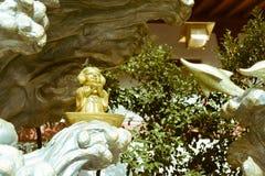 在神田Myojin寺庙的惠比寿雕象在东京,日本 图库摄影