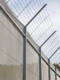 在禁区附近的篱芭 库存照片