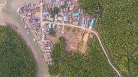 在禁令Samchong的航拍 免版税库存照片