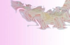 在禅宗样式的抽象花 免版税库存照片