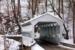 在福奇谷国家公园的诺克斯被遮盖的桥 免版税库存图片