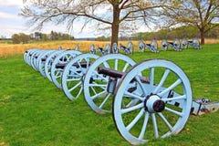 在福奇谷的大炮 库存图片