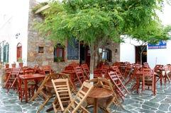 在福莱甘兹罗斯岛海岛上的雨以后,希腊 免版税库存照片