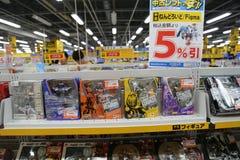 在秋叶原东京,日本的玩具 免版税库存照片