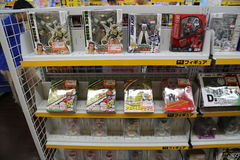 在秋叶原东京,日本的玩具 免版税库存图片