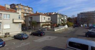 在秋天保加利亚人波摩莱的离开的停车处 免版税库存图片