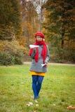在秋天公园 免版税图库摄影