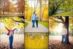 在秋天拼贴画的外部 免版税库存图片