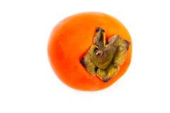 在秋天收获季节期间的水多的成熟柿子果子 免版税库存照片