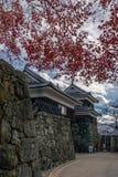 在秋天期间的上田城 图库摄影