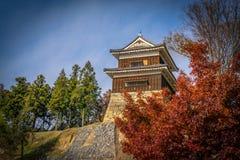 在秋天期间的上田城 库存照片