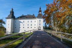 在秋天期间的Ekenäs城堡在Ã-stergötland,瑞典 库存图片
