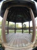 在秋天期间的公园眺望台 库存图片