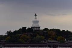 在秋天末期的北海公园 免版税库存照片