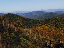在秋天的不可思议的山 库存照片