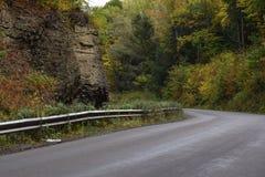 在秋天的乡下公路 库存图片
