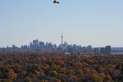 在秋天的多伦多地平线 免版税库存照片