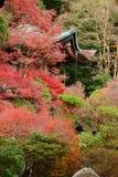 在秋天的寺庙 免版税图库摄影