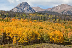 在秋天的山横向 库存图片