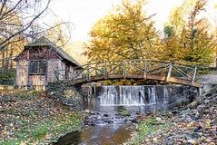 在秋天的戈麦斯磨房 库存照片