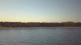 在秋天的海滨 影视素材